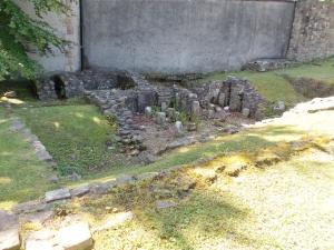 Caldarium in front, Tepidarium behind