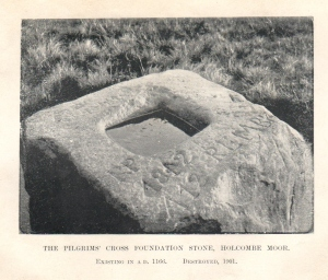 Pilgrim's Cross foundation stone