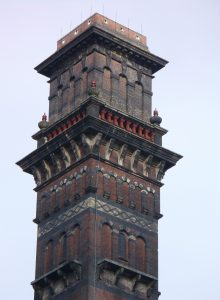 The top of India Mill chimney resembles St Mark's bell tower in Venice