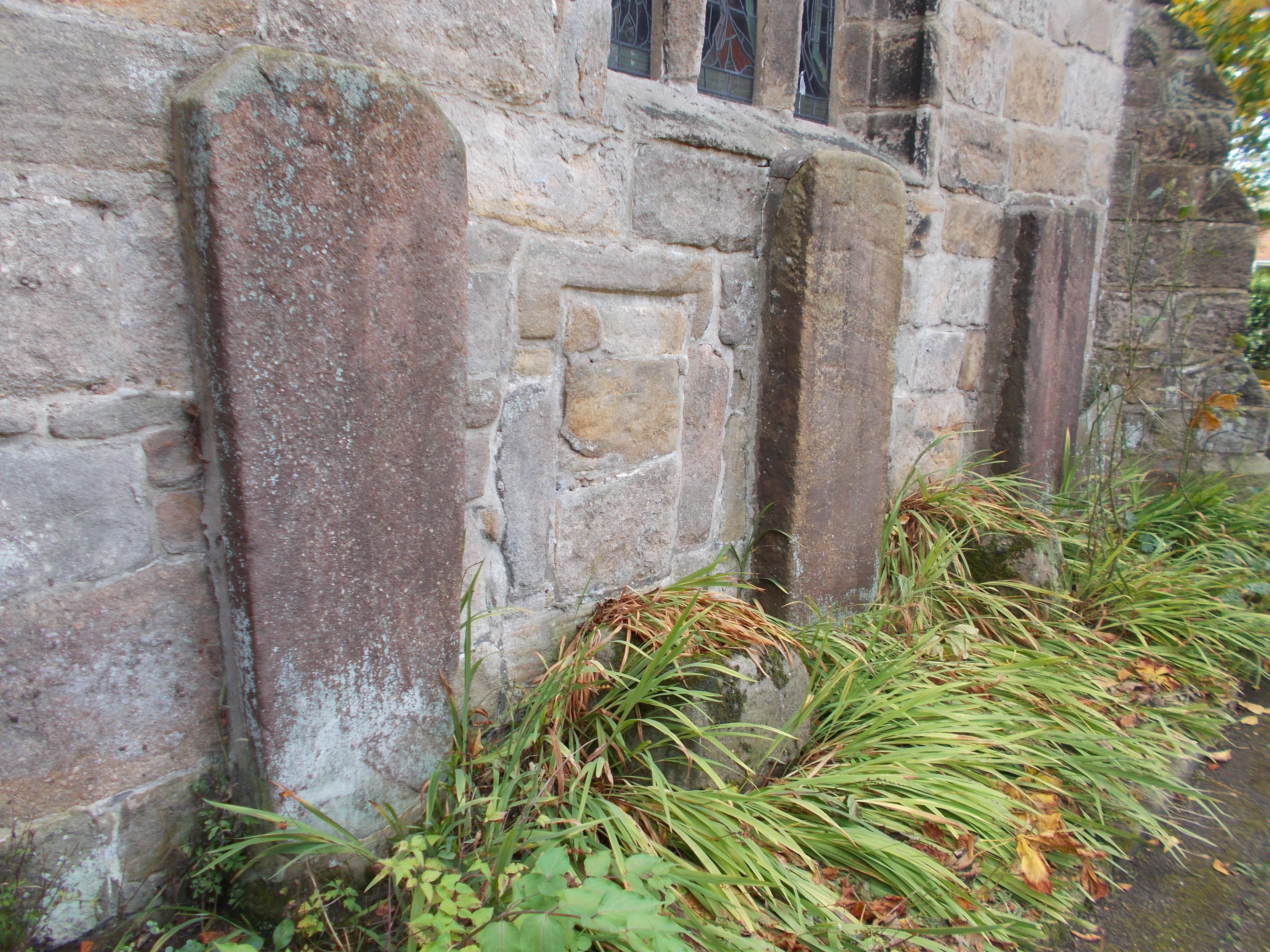 Granite Grave Slabs : Brindle churchyard village near chorley