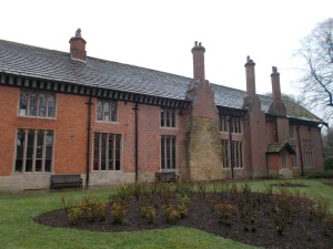 The south range is an early example of brickwork